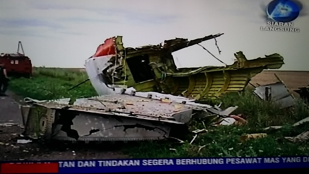 Breaking News of Malaysian Airline flight  MH17 crashed while flying over Ukraine in July  2014