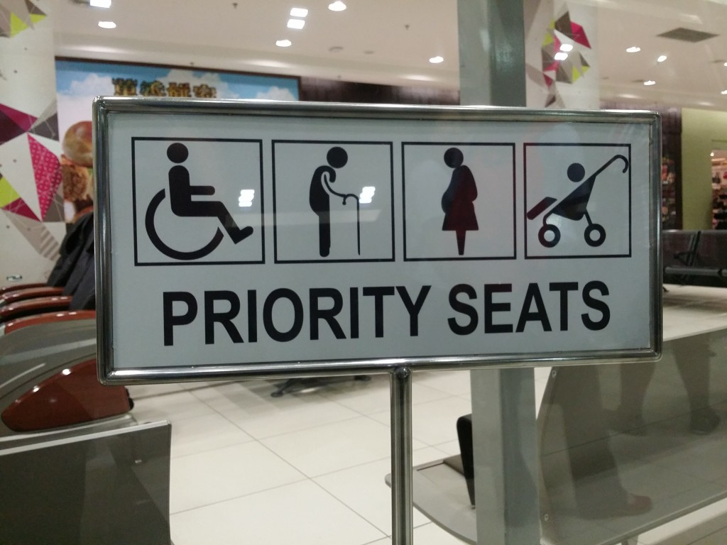 Priority Seats for the best passengers when boarding announcement is made.