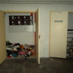 Rubbish dumped at power supply switch room
