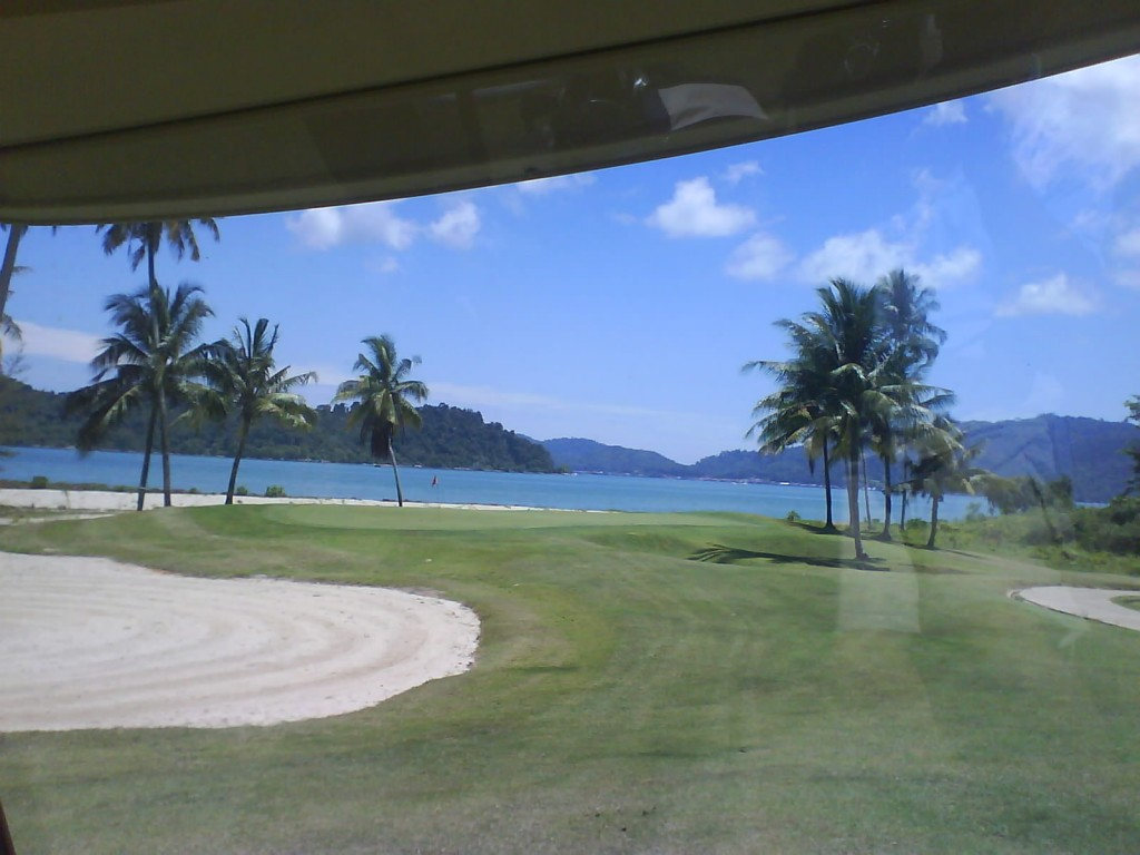 Damai Laut Golf & Coutry Club, Perak, Malaysia Secenic view overlooking Straits of Malacca